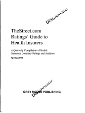 TheStreet com Ratings  Guide to Health Insurers  Spring 2008 PDF