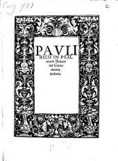 In psalmum: Beatus vir, commentariolum