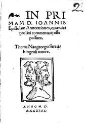 In primam Johannis epistolam annotationes