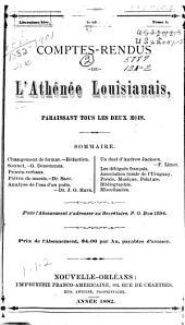 Comptes-rendus de l'Athénée louisianais