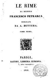 Le Rime di messer Francesco Petrarca, 1