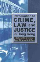 Introduction to Crime  Law and Justice in Hong Kong PDF