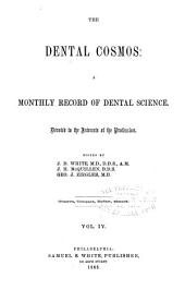 The Dental Cosmos: Volume 4