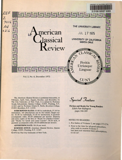 American Classical Review PDF