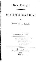 Hinterlassene werke des generals Carl von Clausewitz über krieg und kriegführung: Band 2