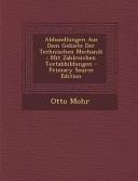 Abhandlungen Aus Dem Gebiete Der Technischen Mechanik  Mit Zahlreichen Textabbildungen   Primary Source Edition PDF