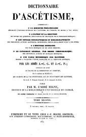 Dictionnaire d'ascétism: Volume2