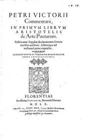 Commentarii in primum librum Aristotelis de arte poetarum