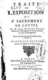 Traité de l'exposition du St sacrement de l'autel