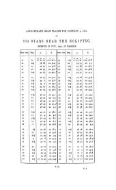 Catalogue of stars near the ecliptic: observed at Markree during the years 1848[-1856] and whose places are supposed to be hitherto unpublished ...