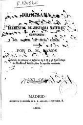 Programa de un curso de elementos de historia natural: compendio de dicha ciencia