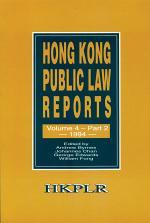 Hong Kong Public Law Reports, Volume 4, Part 2 (1994)