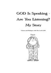 God Is Speaking Are You Listening  Book PDF