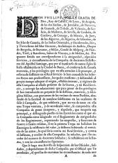 Don Phelipe, etc. [Regulations for the company of Archers, called: del Apostol Santiago. 24 April, 1742.]