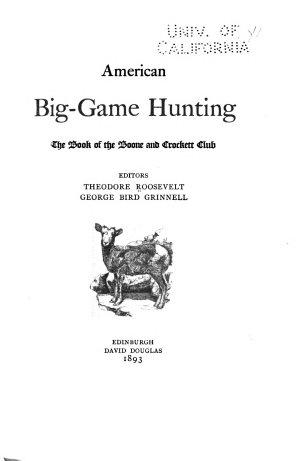 American Big game Hunting