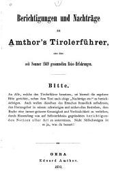 Tirolerführer: reisehandbuch für Deutsch- und Wälschtirol
