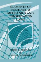 Elements of Continuum Mechanics and Conservation Laws PDF