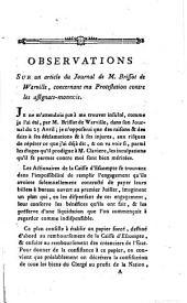 Observations sur un article de journal de M. Brissot de Warville, concernant ma protestation contre les assignats-monnoie