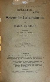 Journal of the Scientific Laboratories of Denison University: Volume 9