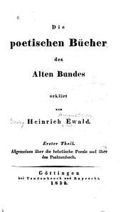 Die poetischen Bücher des Alten Bundes: Bände 1-2