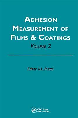 Adhesion Measurement of Films and Coatings PDF