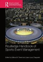 Routledge Handbook of Sports Event Management PDF
