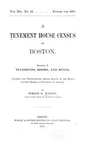 A Tenement House Census of Boston ...