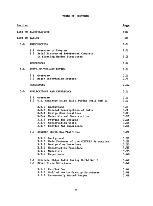 Survey of experience using reinforced concrete in floating marine structures PDF
