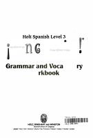 Ven Conmigo Grammar and Vocabulary PDF