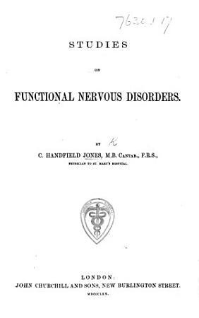 Studies on Functional Nervous Disorders PDF
