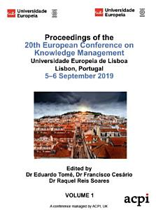 ECKM 2019 20th European Conference on Knowledge Management 2 VOLS PDF