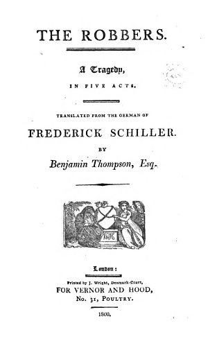 The German Theatre  Translated by Benjamin Thompson  Esq  in Six Volumes  Dedicated  by Permission