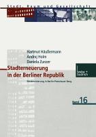 Stadterneuerung in der Berliner Republik PDF