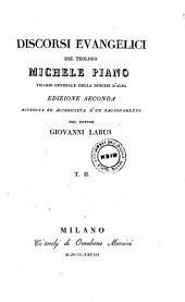 Discorsi Evangelici del Teologo Michele Piano