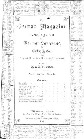 The German magazine  a journal in the German language with interpaged vocabulary  by J  and J  McEwen PDF