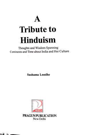 A Tribute to Hinduism PDF