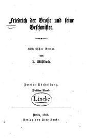 Friedrich der Grosse und seine Geschwister: historischer Roman, Teil 2,Band 3