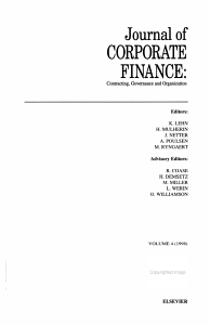 Journal of Corporate Finance Book