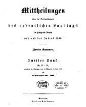Mittheilungen über die Verhandlungen des Landtags Zweite Kammer: Band 2