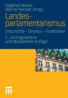Landesparlamentarismus PDF