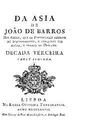 Da Asia de João de Barros e de Diogo de Couto: Volume 6