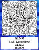 Adult Coloring Book Volume 2   Animals   Wild Cat PDF