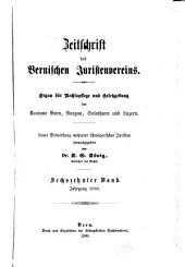 Revue de la Société des juristes bernois: Volume16