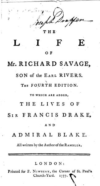 Download The Life of Mr  Richard Savage  Son of the Earl Rivers Book