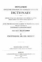 Encyklopädisches englisch-deutsches und deutsch-englisches Wörterbuch: t., 1.-2. hälfte. Englisch-deutsch: bear. von E. Muret. (Paged continuously)