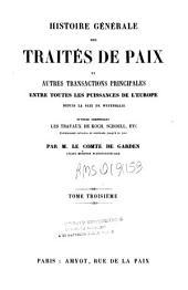 Histoire générale des traités de paix et autres transactions principales entre toutes les puissances de l'Europe depuis la paix de Westphalie: 3, Volume11