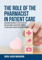 The Role of the Pharmacist in Patient Care PDF