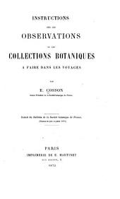 Instructions sur les observations et les collections botaniques à faire dans les voyages
