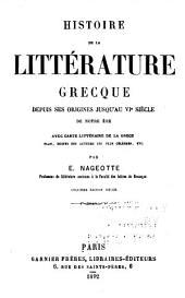 Histoire de la littérature latine: depuis ses origines jusqu'au VIe siècle de notre ère