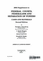 2003 supplement to federal courts  federalism and separation of powers   cases and materials PDF